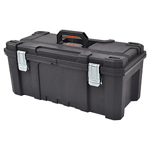 Tactix Heavy Duty Toolbox with Metal Hinges - 26in