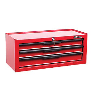 Hilka Heavy Duty 3 Drawer Add on Tool Chest - Red