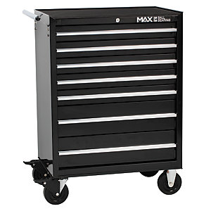 Hilka Professional 7 Drawer Rollaway Tool Cabinet - Black