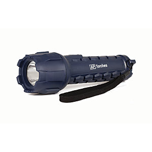 Active AP Torches A50947 Cree LED Heavy Duty Rubber Torch with Battery - 80lm
