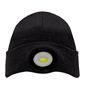 Unilite USB Rechargeable Black Beanie Hat with Light