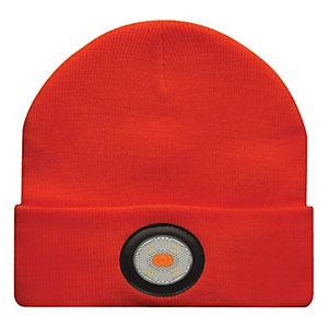 Unilite USB Rechargeable Orange Beanie Hat with Light