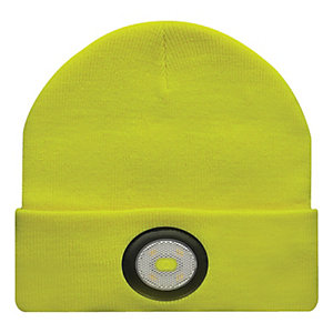 Unilite USB Rechargeable Yellow Beanie Hat with Light