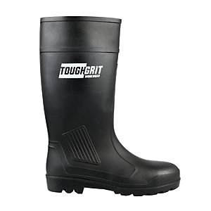 Tough Grit Larch Safety Wellington Boot - Black