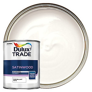 Dulux Trade Satinwood Paint - Pure Brilliant White 1L