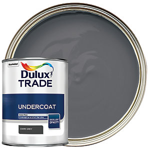 Dulux Trade Undercoat Paint - Dark Grey 1L