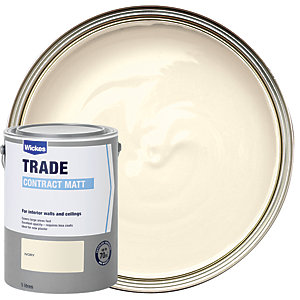 Wickes Contract Matt Emulsion Paint - Ivory 5L