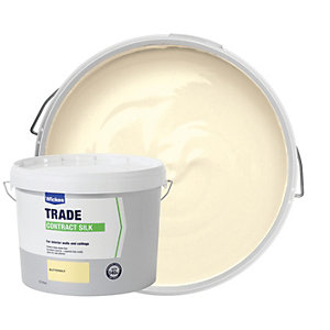 Wickes Contract Silk Emulsion Paint - Buttermilk 10L