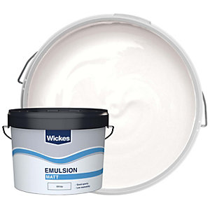 Wickes Trade Vinyl Matt Emulsion Paint - Pure Brilliant White 10L