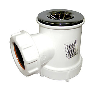 Floplast TH43 Shower Trap with Grid - White 50mm