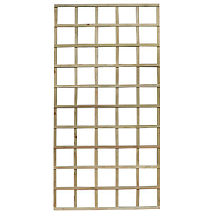 Forest Garden Smooth Planed Trellis Panel 90cm x 180cm