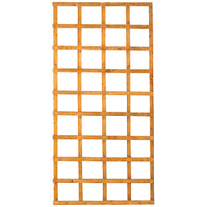 Wickes Fence Top Trellis Square Lattice Autumn Gold - 1.83m x 900mm