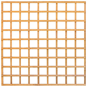 Wickes Square Lattice Trellis Fence Panel Autumn Gold - 1.83 x 1.83m