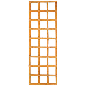 Wickes Top Trellis Square Lattice Fence Panel Autumn Gold - 1.83m x 600mm