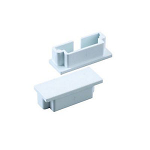 Wickes Mini Trunking End Cap - White 38 x 16mm Pack of 2