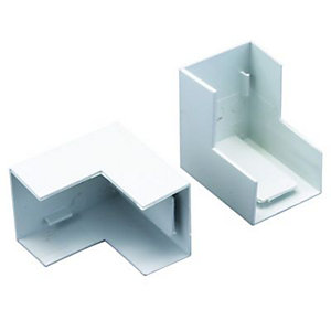 Wickes Mini Trunking Outside Angle - White 38 x 25mm Pack of 2