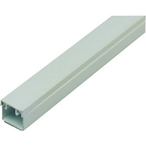 Wickes Self-Adhesive Mini Trunking - White 16 x 16mm x 2m