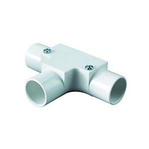 Wickes Trunking Inspection Tee - White 25mm