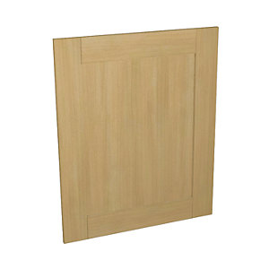 Wickes Tulsa Oak Shaker Appliance Door (B) - 600 x 731mm