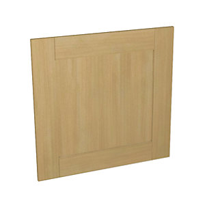 Wickes Tulsa Oak Shaker Appliance Door (C) - 600 x 584mm