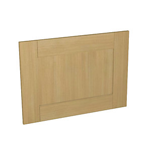Wickes Tulsa Oak Shaker Appliance Door (D) - 600 x 437mm