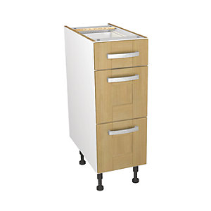 Wickes Tulsa Oak Shaker Drawer Unit - 300mm