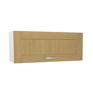 Wickes Tulsa Oak Shaker Narrow Wall Unit - 900mm