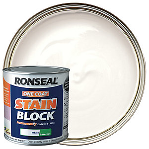 Ronseal One Coat Stain Block White 2.5L