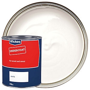 Wickes Basic Undercoat White 750ml