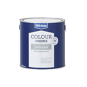 Wickes Colour @ Home Solvent-Based Undercoat Paint - Grey 2.5L