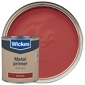 Wickes Metal Primer Paint - Red Oxide 750ml
