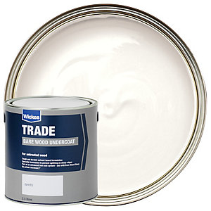 Wickes New Work Undercoat Paint - White 2.5L