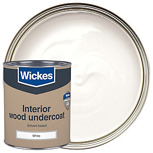 Wickes Solvent Based Undercoat White 750ml