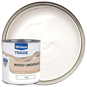 Wickes Undercoat Paint - White 1L