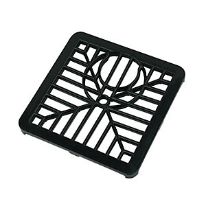 FloPlast D502 Spare Square Drain Grid - Black 150mm