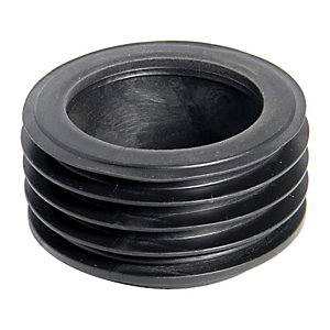 FloPlast D96 Universal Rainwater Adaptor 110mm Underground Drainage to 65mm Square & 68mm Round Downpipe - Black