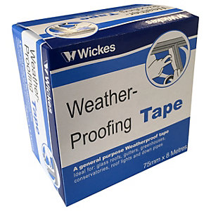 Wickes General Purpose Weatherproofing Tape - 76mm x 8m