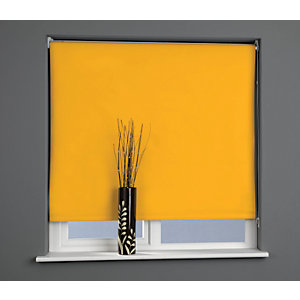 Universal Plain Blackout Roller Blind - Citrus Zest