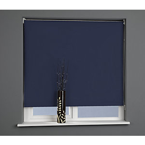 Universal Plain Blackout Roller Blind - Midnight Blue