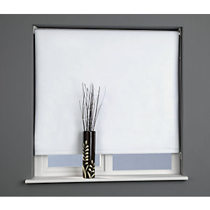 Universal Plain Blackout Roller Blind - Snow White