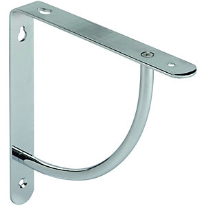 Wickes Decorative Shelving Bracket Chrome Finish - 180 x 180mm