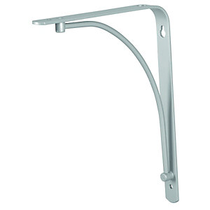 Wickes Decorative Shelving Bracket Silver Effect - 230mm