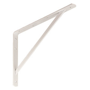 Wickes Heavy Duty Shelving Bracket White - 495 x 330mm