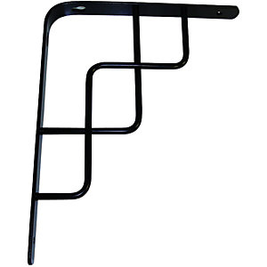 Wickes Roxy Decorative Shelving Bracket Black - 230 x 180mm