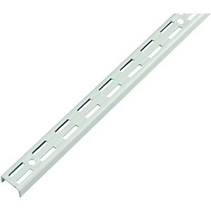 Wickes Twin Slot Upright Shelving Bracket White - 1400mm