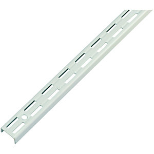 Wickes Twin Slot Upright Shelving Bracket White - 2060mm