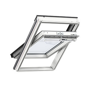 VELUX White Painted Centre Pivot Roof Window 550 x 1180mm GGL CK06