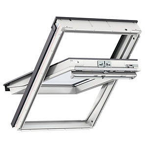 VELUX White Polyurethane Centre Pivot Roof Window - 980 x 780mm