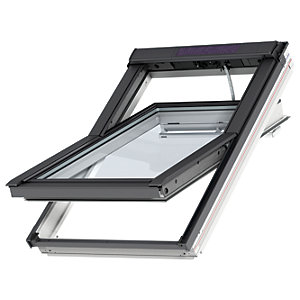VELUX INTEGRA White Painted Solar Centre Pivot Roof Window