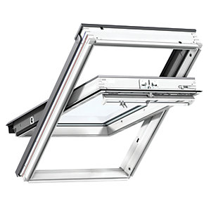 VELUX White Polyurethane Centre Pivot Roof Window GGU 0050